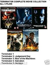 TERMINATOR COMPLETE 1 - 5 MOVIE COLLECTION DVD ALL 1 2 3 4 5 Genisys FILM New UK