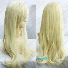 Charm Light Blonde Long wavy curly cosplay wig 80cm  &567