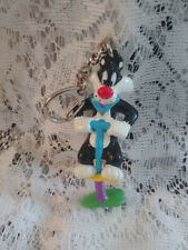 SYLVESTER THE CAT ON POGO STICK KEY CHAIN CUTE