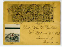 France Stamps # B11 Strip of 10 Clean Rare Cover to France Stamps