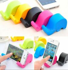 2016~Cute Small Mini Elephant Mobile Cell Phone Tablet Fixed Holder Mount Stand