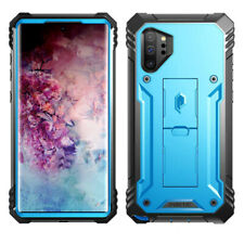 Galaxy Note 10 Plus Case | Poetic Rugged Shockproof Cover w/Kick-stand Blue
