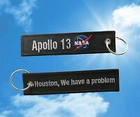 """Apollo 13 """"Houston, We have a problem"""" Keychain luggage baggage tag"""