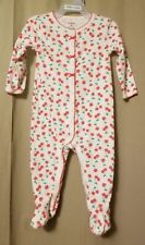 Carters - White With Cherries Snap Up Footed Sleeper Size 9M Ir8