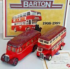 CORGI CLASSICS - BEDFORD OB/AEC REGENT - BARTON 1908-1989 SET - MINT & BOXED