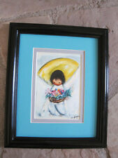 DEGRAZIA FLOWER BOY Framed matted print