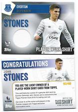 Topps Premier Club 2016 Everton John Stones Player Worn Shirt Card 103/400