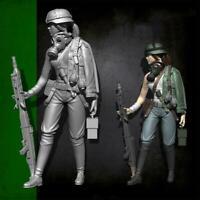 YUFAN Model 1/35 Zweiten Weltkrieg weibliche Maschinengewehrschütze Resin S S8O0