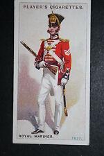 Royal Marines circa 1837    Original 1913 Vintage Uniform Card  VGC