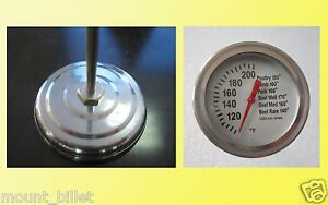 """F&C 2"""" BBQ MEAT THERMOMETER TEMP GAUGE !"""