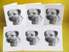 Border Terrier Dog Note-lets / Blank Cards with envelopes pack of 6, A6