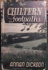 RARE 1946 CHILTERN FOOTPATHS ANNA DICKSON ENGLAND HC DJ