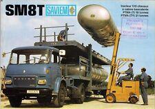 Saviem SM8T & TY Tractor Unit 1967-69 French Market Foldout Sales Brochure