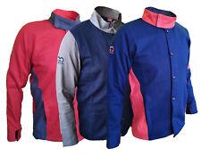 Modische Schweißerjacke Schweißjacke Arbeitsjacke Baumwolle rot / blau