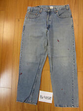 used Levis 569 destroyed feathered grunge USA jean tag 36x30 meas 36x30 16402F