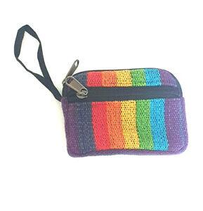 Hippie rainbow colours padded purse