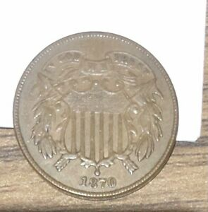 1870 Two Cent USA Coin - 2 Cent