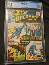 80 Page Giant #1 Cgc 4.5 Ow-W Pages 8/64 Superman Curt Swan George Klein