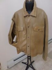 "W&S Lee Cobb Company - MUSTARD Leather Jean Jacket ""Distress Style"" - 3XL MEN"