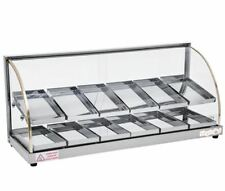 "New 36-5/8"" Hot Food Warmer Display Merchandiser Double Shelf SKYFOOD FWDE2-37"