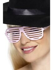 80's Grill Specs Pink Kanye West Shutter GLASSES - LADIES FANCY DRESS