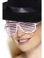 80's Grill Specs White Kanye West Shutter GLASSES - LADIES FANCY DRESS