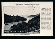 Shipping HAMBURG-AMERIKA LINIE Japan Nagasaki Hafen 1913 PPC