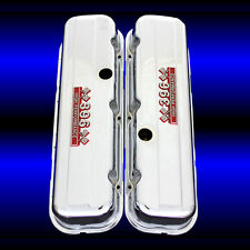 Tall Valve Covers Fits Big Block Chevy 396 Engines 396 HP Emblems Chrome
