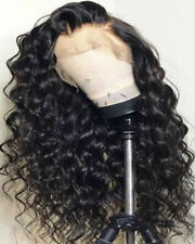 Afro Women Long Curly Black Synthetic Lace Front Wig Brazilian Lace Wig Cosplay