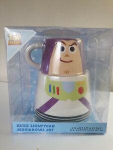 NEW DISNEY TOY STORY Large Buzz Lightyear Ceramic Mug And Bowl Set .