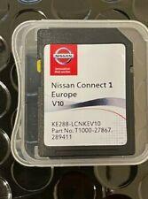 GENUINE NISSAN CONNECT 1 V10 MAPS LATEST SAT NAV SD CARD 2020/2021 brand new