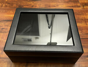 NEW WOLF Heritage Leather Watch Display Case | Black
