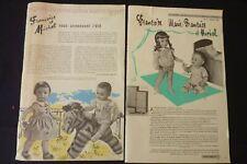 MODES ET TRAVAUX  Françoise et Marie-Françoise et Michel 1959/57 réf 222