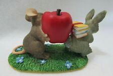 Fitz & Floyd Charming Tails Figurine (Teacher`S Pet ) Mouse & Rabbit 89/700