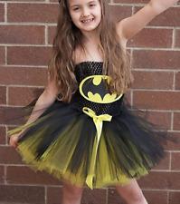 Kinder Mädchen SuperHeld Batgirl Karneval Kostüm tutu Fest Kleid 5-6j DT1621-120