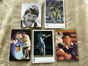 Job Lot of Cricket Postcards - Tendulkar, Warne, Lamb, Sami etc