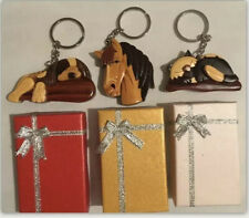 Carver Dan's Handmade Wooden Keychains (All 3!!) - Cat, Dog & Horse!  *NEW*