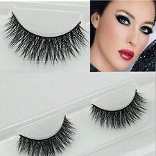 Wholesale Black 100% Real Mink Long Natural Thick Eye Lashes False Eyelashes