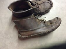 VTG MENS CUSTOM HAND MADE THICK LEATHER MOCCASIN CHUKKA BOOTS SIZE 8