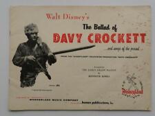 The Ballad of Davy Crockett Walt Disney's Music Scores Booklet PB 1955