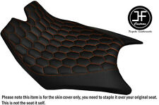 HEX DESIGN ORANGE STITCHING CUSTOM FOR KTM RC8 FRONT RIDER VINYL SEAT COVER ONLY