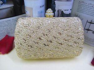NEW - Lady Hard Box Evening Bag -Golden