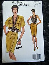 Very Easy Very Vogue - Pattern 8393 Size 8-10-12 - Uncut