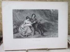 Vintage Print,THE STROLLERS,Gallery,British Art,D.Appleton