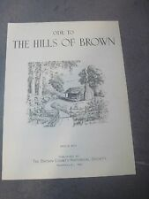 ODE TO THE HILLS OF BROWN  - 1966 vintage sheet music