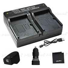 ptd-13 USB dualbattery ACDC Cargador rápido para Sony NPFV50 Fv70 FV100 FH50