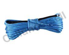 "3/16"" x 50' Blue Synthetic Winch Line Cable Rope 5500+ LBs w/ Sheath ATV UTV SUV"