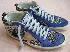 Golden Goose Mid Star Black White Zebra Gold Star Trainers Sneakers 38 8 $595