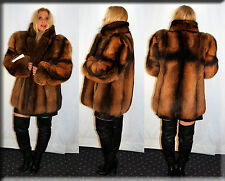 New Brown Dyed Fox Fur Jacket Size Medium 6 8 M Efurs4less