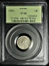 1935 SILVER CANADIAN DIME PCGS XF40 #0366